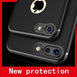 cases wholesales The new frosted camera protects the iPhone7 cell phone shell 7plus solid color frosted TPU protection sleeve