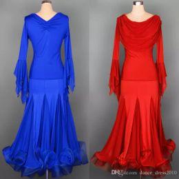 Ballroom Dance Dress Modern Waltz Tango Standard Dance Dress Dance Suit Size S-XXL