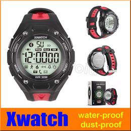 Moniteur de sommeil podomètre à vendre-Le plus cher XWatch Outdoor Sport Smart Watch étanche à la poussière-nuit Visible podomètre APP Sleep Monitor pour Android IOS + 50pcs boîte de détail