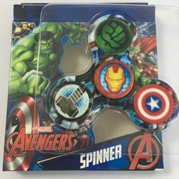 Marvel The Avengers Captain America Hulk Fidget Hand Spinner Gyro Finger For Autism EDC ADHD Decompression Toys Anxiety Hand Game Kids Gift