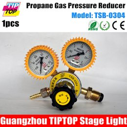 Wholesale TIPTOP TSB LPG Fire Machine Gas Gauge Propane Aas Pressure Reducer Coal Gas Pressure Controller Input mpa Output mpa