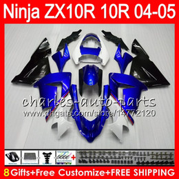 8Gifts 23Colors Body For KAWASAKI NINJA ZX 10 R ZX10R 04 05 06 07 35HM22 blue black ZX 10R ZX1000 C ZX1000C 04 ZX-10R 2004 2005 Fairing kit