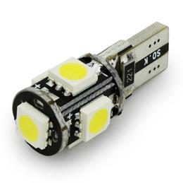 100pcs lot LED car Light led t10 canbus T10 5 SMD 5050 led w5w canbus 5050 SMD White Light Bulbs t10 canbus 5050