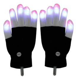 Wholesale LED Gloves Flashing LED Finger Light Gloves with Colorful Rave Colors Light Show Best Idea Christmas Gift