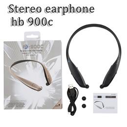 HB 900c stereo CSR 8635 bluetooth 4.0 sports bluetooth wireless headset headphone in-ear hb-900c earphone for iPhone Samsung Blackberry HTC