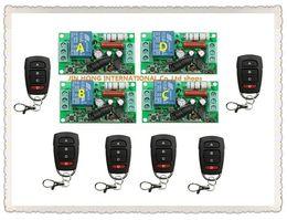Descuento control remoto 315 Venta al por mayor 10pcs RF Wireless 220V 10A 1CH conmutador de control remoto 4 * Receptor 6 * Transmisor 315/433 MHZ Smart Home Switch