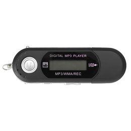 Promotion mp3 mémoire lecteur 1gb Vente en gros- Nouveau lecteur LCD 16G Lecteur MP3 USB 2.0 Lecteur flash Enregistreur vocal Memory Stick Lecteur de musique MP3 avec écouteur