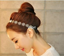 Wholesale -Details about Fashion Women's Hair Accessory Silver Metal Rose Flower Headband Ring Hair Band#D591