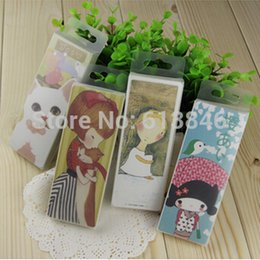 Vente en gros 2packs / lot Vintage 4 designs Cute Cartoon Cat Girl Carte de signets Kawaii Paper Japan Bookmarks Gift Package No.0321 à partir de fabricateur