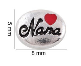 Wholesale 20PCS lot Red Heart Nana Floating Locket Charms Fit For Glass Living Memory Locket Jewlerys