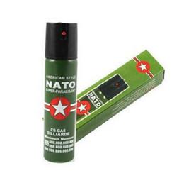 Wholesale 2017 Hot Sell NEW NATO CS GAS defensive perfume sprayer Pepper spray defender of Women Men Security ML J007 Best Price Free Ship