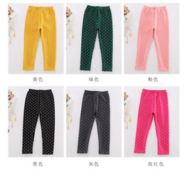 Wholesale new winter with velvet thickening girls leggings Han edition elastic wave point baby cultivate one s morality children warm trousers