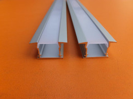 Wholesale Aluminum Profiles for surface and recessed LED strip Slim Compact Design with Oyster White Cover End Caps and Mounting Clips
