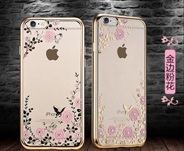 Wholesale Secret Garden Flowers Phone Case Accessories for iPhone 6 7 7 plus Samsung Rose Golden Diamond Bloom Cover