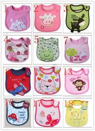 Exempt postage children cotton bib baby bib baby bib children cartoon three layers of cotton waterproof saliva towel 90-100
