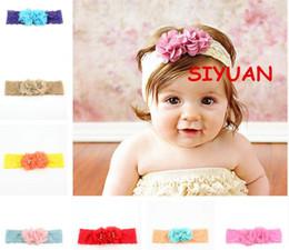 Promotion bébé props accessoires pour la photographie 2017 Infant Flower Pearl strass Bandeaux Girl Dentelle Headwear Enfants Bébé Photographie Props NewBorn Bow Accessoires cheveux Baby Cheveux bandes