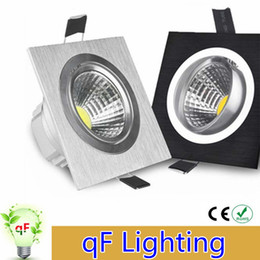Wholesale 10PCS High power led cob dimmable downlight ceiling light AC110V V W W w square cob led downlights indoor lighting