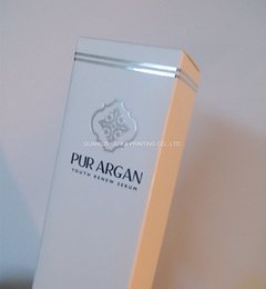 Silver foil stamping paper boxes custom printing PUR Argan packaging boxes Matt laminated 350 to 400gr thin paperboard