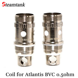 atlantis vape Promotion Wholesale- Atlantis Tank Coil Bottom Vertical BVB Atomizer Vape Heads 0.5Ohm pour Atlantis cigarette électronique 10pcs / lot clone