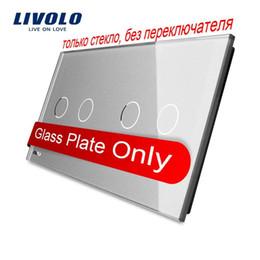 Livolo Luxury Grey Pearl Crystal Glass,151mm*80mm, EU standard, Double Glass Panel VL-C7-C2 C2-15