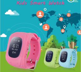 Acheter en ligne Enfants finder-Q50 GPS Smart Kid Safe Smart Watch SOS Call Location Finder Locator Tracker pour enfant Anti Lost Monitor Baby Son Montre-bracelet