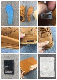 Wholesale New Air retro IV yellow leather mens basketball Shoes s retro Basket footwear retros sports athletic sneakers Original Box