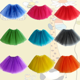 17 Colors Baby TuTu Skirts pettiskirt girls' skirts for kids Chiffon Ruffles skirts Girls Kids Tutu Party Ballet Dance Wear Skirt Pettiskirt