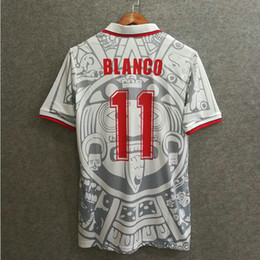 ^_^ Wholesale 1998 mexico retro home away soccer jersey Top thai 3AAA quality customzied name number soccer uniforms football jersey