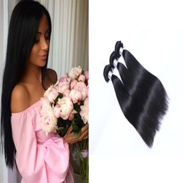 High Quality 3pcs Brazilian Hair Weft Weave 100% Unprocessed Hair Straight Natural Color Hair Extensions Soft Full Double Weft