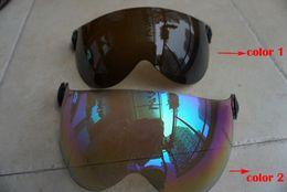 Descuento visera extraíble casco Venta al por mayor-gafas de protección gafas de esquí de accesorios de gafas de reemplazo lentes de anteojos visor de lente UV extraíble para S1-10G 2 colores