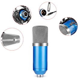Electric Condenser Microphone Suit for DJ and Studio Recording NO NEED Phantom Power Mic for Computer Conference KTV Bar etc.