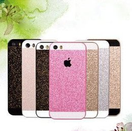 2016 la PC caliente del color de rosa de la caja del teléfono móvil del brillo de Bling de Shinny PC protege el caso de la contraportada para el color blanco del oro negro del iPhone 5 5G 5s El envío libre desde iphone bling la rosa fabricantes