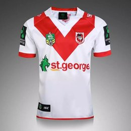 Wholesale S XL Australian Rugby Jersey St George Illawarra DRAGONS Steelers MENS HOME JERSEY NRL Rugby jersey Mens Adults Drop shippin