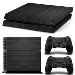 Cool Wooden Style PVC Skin Sticker Vinyl Decals For PS4 Console + 2 PCS Controller Cover Decal Skins for Playstation 4
