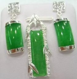 Fine Black jade pendant necklace bracelet earrings sets AAW