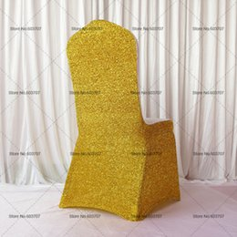 Colorful Glitter Banquet Lycra Chair Cover For Wedding,Party,Hotel Decoration Use 100PCS With Free Shipping