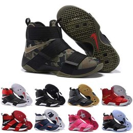 Wholesale With Box Cheap New Lebro Soldiers LB EP Black Gold Championship Shoes Jam s Breast Cancer Trainers LBJ X Basketball Sneaker