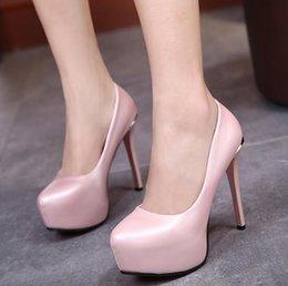 2017 taille 34 talon rose Chaussures de dames de demoiselles rose confortable haute plate-forme talons minces pompes femmes chaussures de travail de taille 34 à 39 taille 34 talon rose autorisation