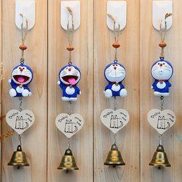 A lotus leaf Totoro chimes wind chimes bird house bells With animal bells 30cm Jingle cat bells for Home & Garden