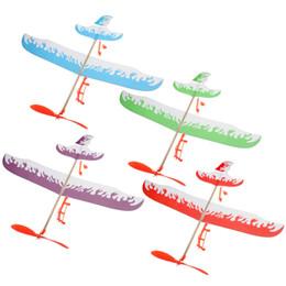 Descuento planeadores de bricolaje Venta al por mayor de alta calidad Thunderbird modelo de mano de lanzamiento de aviones de aeroplano modelo de avión DIY juguetes educativos