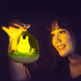 Wholesale Sensor Lighting Bedroom - Newest Design Night Lamp Totoro Cute Portable Touch Sensor USB LED Lights Lamps Lamp For Baby Bedroom Sleep Lighting Art Decor
