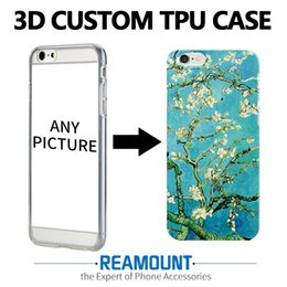 3D DIY Name Photo Customized Cover Case for samsung galaxy s6 for iphone 7 case 4.7 inch Relief Mobile Phone Case