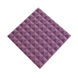 5 Pack 19.6''x19.6''x1.9'' Purple Pyramid Soundproofing Acoustic Foam Panel for Recording Studio Music Rooms Noise and Echoes Absorption