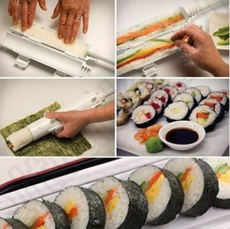 Wholesale Sushi Roll Maker Kit Bazooka Sushezi Roller Rice Roller Mold Mould Chef Kitchen DIY Set OOA977