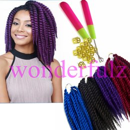 Promotion le tressage des cheveux 12 pouces 12 pouces La Havane mambo twist cosplay La Havane croche t torsion cheveux cheveux synthétiques cheveux Marley tressage extension des cheveux