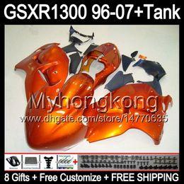 8gift Pour brillant orange SUZUKI Hayabusa GSXR1300 96 97 98 99 00 01 13MY75 GSXR 1300 GSX-R1300 GSX R1300 02 03 04 05 06 07 TOP noir Carénage à partir de 98 gsxr carénage orange noir fournisseurs