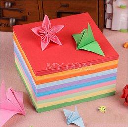 2017 côté de l'artisanat En gros 100pcs Origami Carré Papier Double Face feuilles colorées Papier plié 15x15cm Artisanat Bricolage côté de l'artisanat à vendre