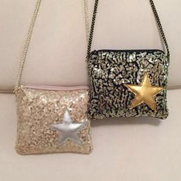 Enfants enfants sacs à bandoulière à vendre-Fashion Baby Girls Bags New Korean Sequin Star Sacs à bandoulière enfants Sac messenger pour enfants Cute Girl fournitures pour fêtes d'anniversaire C195