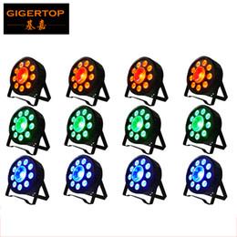 TIPTOP New Arrival 12XLOT Slim Led Par Light 9 * 3W 3in1 RGB Led+1 x 30W Led 3in1 RGB DJ Par 64 Stage DMX Light Cheap Price Building Stage