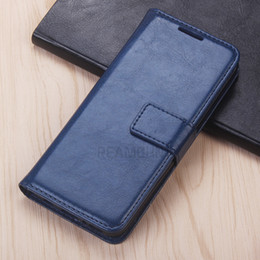 Wholesale Business Style Leather Cover for Samsung S8 S8 Plus Crazy Horse Pattern Wallet Leather Cover with Card Slots